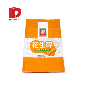 Small MOQ small sachets one side clear custom mylar plastic bags vacuum seal bags food