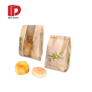 Customize Printing Sandwich Bread Kraft Paper Bags Baking Food Takeout Packs