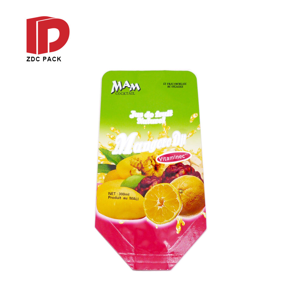 Laminated OEM customized plastic spout pouch for fruit juice