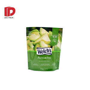 Frosted Matte Recyclable Food Packaging Paper Bags Stand Up Pouch with Zipper and Front Window