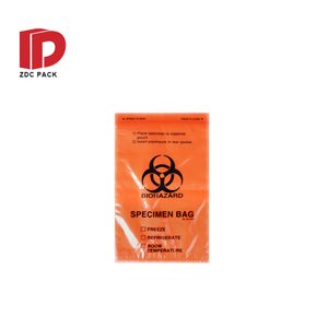Plastic Hospital Lab Chemotherapy Packaging Biohazard Specimen Bags